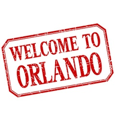 Orlando - welcome red vintage isolated label vector