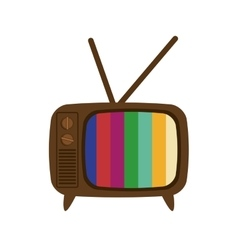 Tv icon retro technology design graphic vector