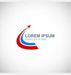 arrow loop business company logo vector image
