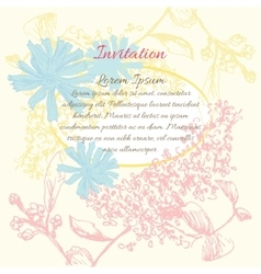 Background flower frame vector image