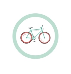 Bicycle cycling road sign vector
