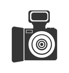 black and white photo camera graphic vector image