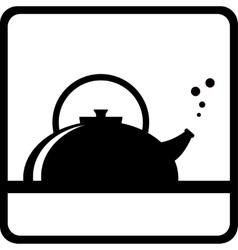 black kettle silhouette vector image