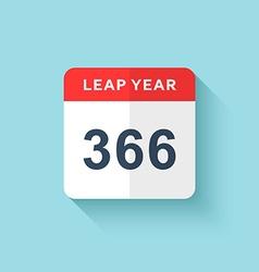 Calendar style flat leap year 366 days Calendars vector image