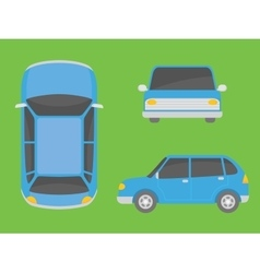 car view from all side front top vector image
