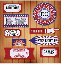 Carnival signs vector