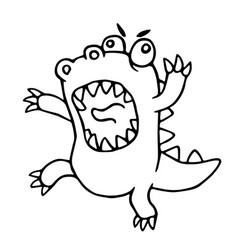 Cartoon mad dragon vector