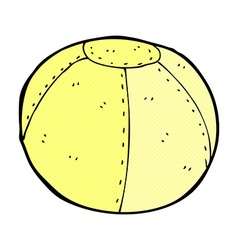 Comic cartoon stitched football vector
