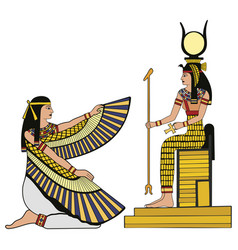 Egyptian national drawing vector