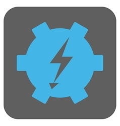 Electric power gear rounded square icon vector
