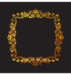 Elegant luxury retro floral gold frame vector