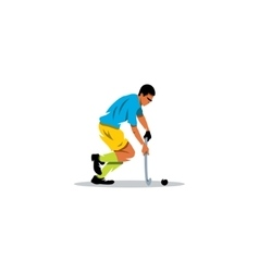 Field Hockey player sign vector image