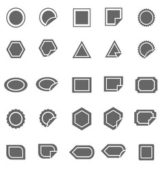 Label icons on white background vector image
