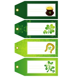 Labels for patricks day vector
