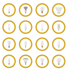 light bulb icon circle vector image vector image