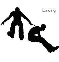 Man in landing action pose vector