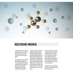 Medical scientific cell Abstract graphic design vector image vector image