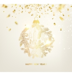Merry christmas label vector image
