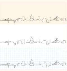 Montreal hand drawn skyline vector