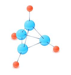 multicolor molecule icon isometric 3d style vector image vector image
