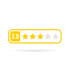 neutral feedback yellow frame like three stars vector image vector image