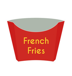 paper box for french fries cartoon style vector image
