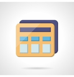 Simple calculator flat color icon vector image