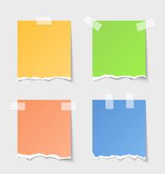 Torn paper notes vector