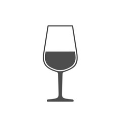 wineglass with wine sign symbol icon isolated on vector image