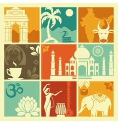 Symbols of India vector image