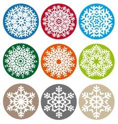 Xmas snowflake set vector