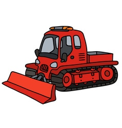 Funny red snowplow vector image