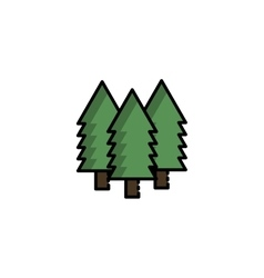 Hunting icon forest vector