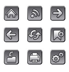 Web navigation buttons set vector image