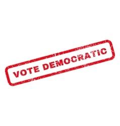 Vote democratic rubber stamp vector