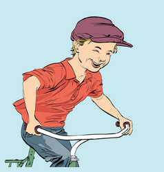 country boy biker vector image