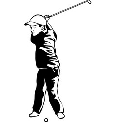 Dr00070 golf child vector