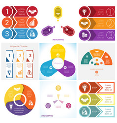 Collections infographics elements template 3 vector