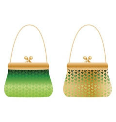 Purses with clover vector