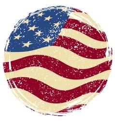 American grunge flag vector