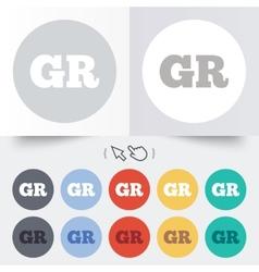Greek language sign icon gr greece translation vector