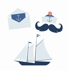 Sea voyage icons vector