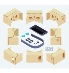 Isometric parts of the cardboard virtual reality vector