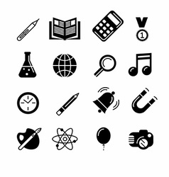 Education and learning icon set vector