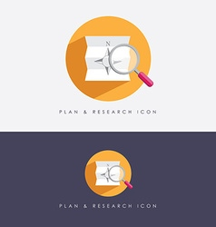 Research and planning company logo vector