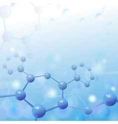 Molecule over blue background with vector image