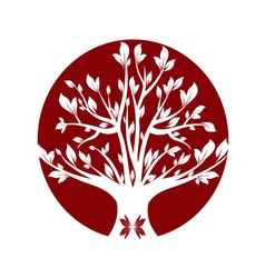 Abstract red art tree closeup vector