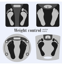 Bathroom scales and footprint vector