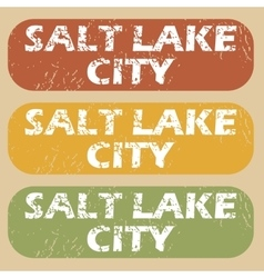 Vintage salt lake city stamps vector