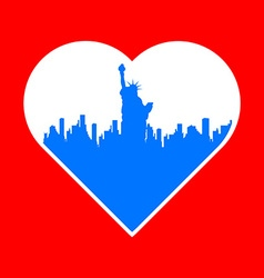 I love new york template vector